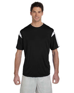 Black/white Short-Sleeve Performance T-Shirt