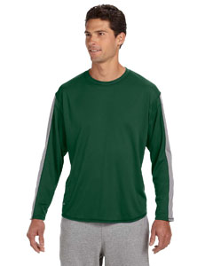 Dark Green/steel Long-Sleeve Performance T-Shirt