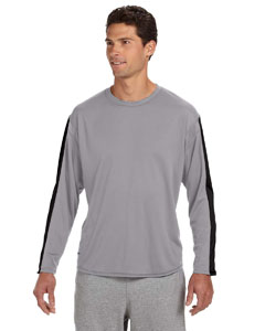 Steel/black Long-Sleeve Performance T-Shirt