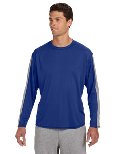 Royal/steel Long-Sleeve Performance T-Shirt
