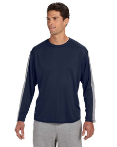 Navy/steel Long-Sleeve Performance T-Shirt