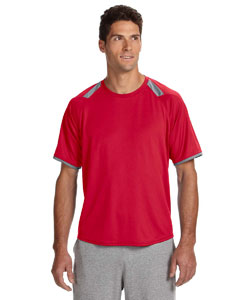 True Red/rock Dri-Power® T-Shirt with Colorblock Inserts