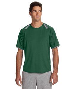 Dark Green/rock Dri-Power® T-Shirt with Colorblock Inserts