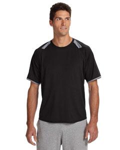 Black/rock Dri-Power® T-Shirt with Colorblock Inserts