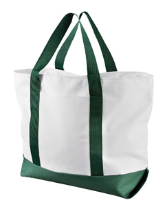 White/forest Bay View Giant Zippered Boat Tote