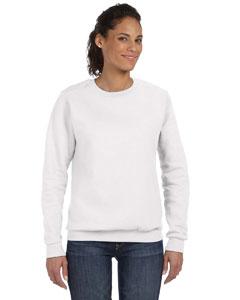 White Women's Ringspun Crewneck Sweatshirt