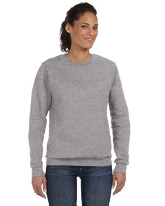Heather Grey Women's Ringspun Crewneck Sweatshirt