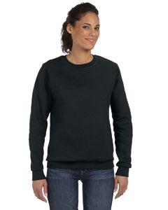 Black Women's Ringspun Crewneck Sweatshirt