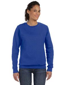 Royal Blue Women's Ringspun Crewneck Sweatshirt