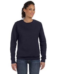 Navy Women's Ringspun Crewneck Sweatshirt