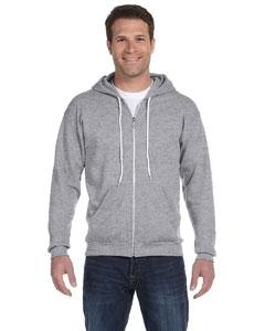 Heather Grey Ringspun Full-Zip Hooded Sweatshirt