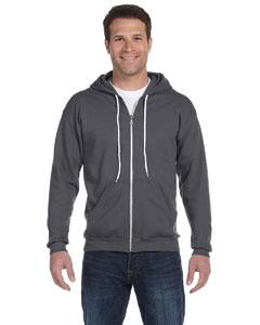 Charcoal Ringspun Full-Zip Hooded Sweatshirt