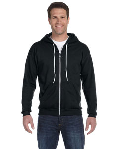 Black Ringspun Full-Zip Hooded Sweatshirt