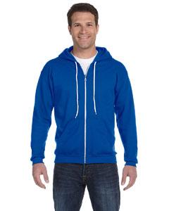 Royal Blue Ringspun Full-Zip Hooded Sweatshirt