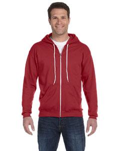 Independence Red Ringspun Full-Zip Hooded Sweatshirt