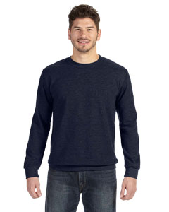 Navy Ringspun French Terry Crewneck Sweatshirt