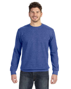 Heather Blue Ringspun French Terry Crewneck Sweatshirt
