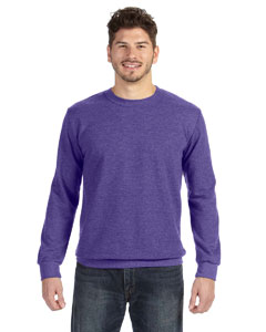 Heather Purple Ringspun French Terry Crewneck Sweatshirt