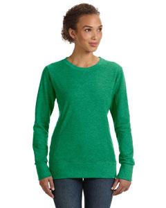 Heather Green Women's Ringspun French Terry Mid-Scoop Sweatshirt