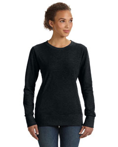 Black Women's Ringspun French Terry Mid-Scoop Sweatshirt
