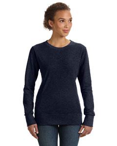 Navy Women's Ringspun French Terry Mid-Scoop Sweatshirt