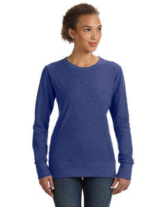 Heather Blue Women's Ringspun French Terry Mid-Scoop Sweatshirt