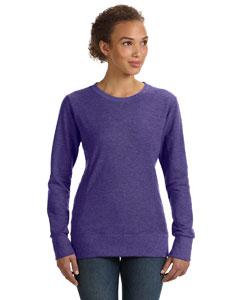 Heather Purple Women's Ringspun French Terry Mid-Scoop Sweatshirt