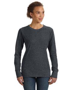 Hthr Dark Grey Women's Ringspun French Terry Mid-Scoop Sweatshirt