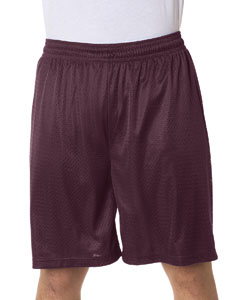 "Maroon Adult Mesh/Tricot 9"" Shorts"