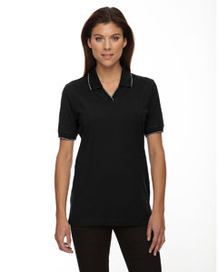 Black 010 Ladies' Cotton Jersey Polo