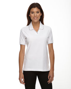 W10 Wht/black Ladies' Cotton Jersey Polo
