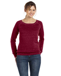 Red Triblend Women's Triblend Sponge Fleece Wide Neck Sweatshirt