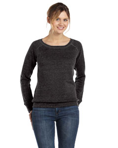 Charcoal Triblend Women's Triblend Sponge Fleece Wide Neck Sweatshirt