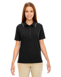 Black 703 Edry® Ladies' Needle-Out Interlock Polo