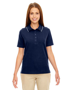 Classic Navy 849 Edry® Ladies' Needle-Out Interlock Polo