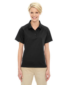 Black 703 Eperformance™ Ladies' Ottoman Textured Polo