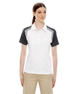 White 701 Edry® Ladies' Colorblock Polo
