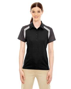 Black 703 Edry® Ladies' Colorblock Polo