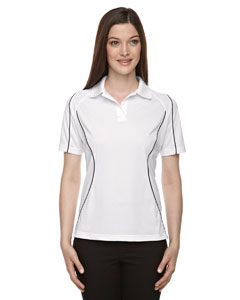 White 701 Eperformance™ Ladies' Velocity Snag Protection Colorblock Polo with Piping