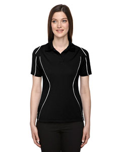 Black 703 Eperformance™ Ladies' Velocity Snag Protection Colorblock Polo with Piping
