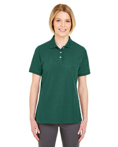 Forest Green Ladies' Platinum Honeycomb Pique Polo