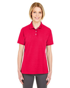Red Ladies' Platinum Honeycomb Pique Polo