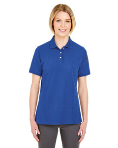 Royal Ladies' Platinum Honeycomb Pique Polo