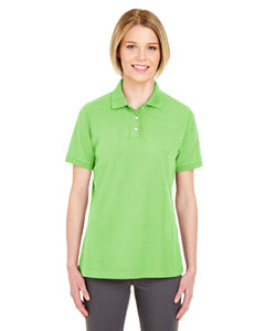 Light Green Ladies' Platinum Honeycomb Pique Polo