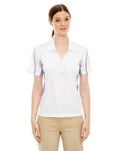White 701 Eperformance™ Ladies' Parallel Snag Protection Polo with Piping