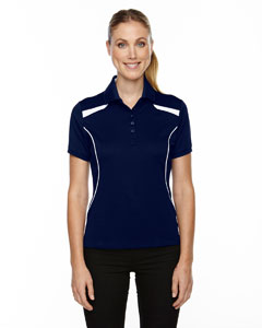 Classic Navy 849 Eperformance™ Ladies' Tempo Recycled Polyester Performance Textured Polo