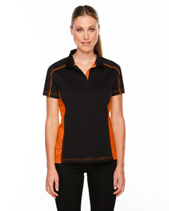 Black/ Ornge 468 Eperformance™ Ladies' Fuse Snag Protection Plus Colorblock Polo