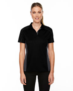 Black 703 Eperformance™ Ladies' Fuse Snag Protection Plus Colorblock Polo