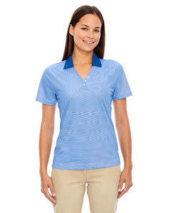 Nauticl Blue 413 Eperformance™ Ladies' Launch Snag Protection Striped Polo