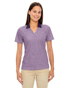 Mulbry Purpl 449 Eperformance™ Ladies' Launch Snag Protection Striped Polo